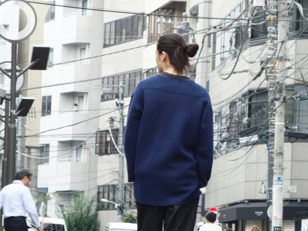 """roundabout"" Bonding Crew Neck Long Pullover roundabout blog"